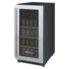 "Allavino 15"" Stainless Steel Beverage Center"