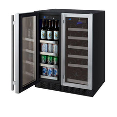 Allavino  18 Bottle/66 Cans Dual Zone Wine/Beverage Center