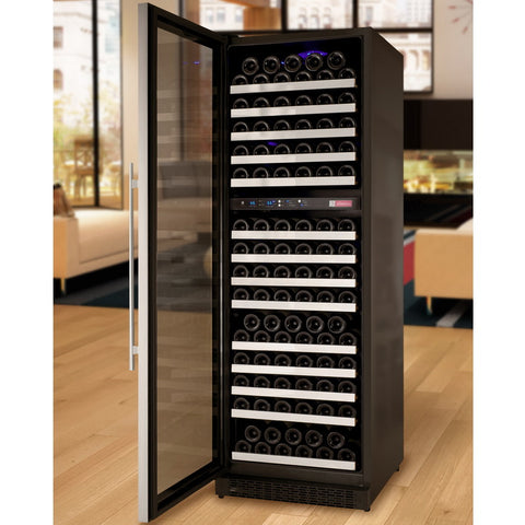 Allavino 172 Bottle Dual Zone Stainless Steel Wine Refrigerator
