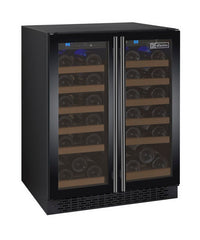 Allavino 36 Bottle Dual Zone Black Wine Refrigerator