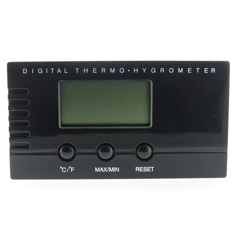 Visol, Visol Black Digital Thermo Hygrometer for Humidors, Accessory - Humidor Enthusiast