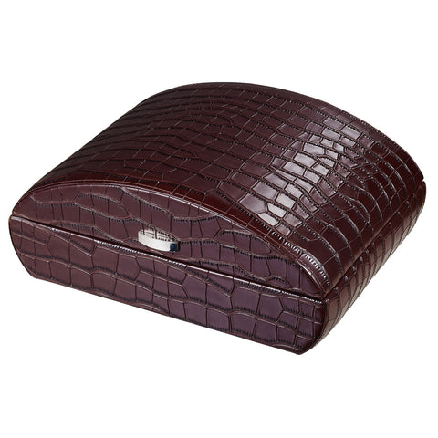 Visol, Visol Blake Crocodile Pattern Leather Humidor in Black or Brown, Humidor - Humidor Enthusiast