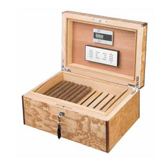 Visol Liberty Humidor Built With Birdseye Maple Exotic Wood