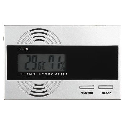 Visol, Visol Silver Digital Thermo Hygrometer for Humidors, Accessory - Humidor Enthusiast