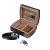 Image of Visol, Visol Burkhard Gift Set Wood Humidor with Ashtray and Cutter, Humidor Set - Humidor Enthusiast