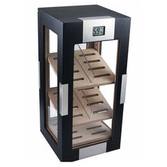 Visol, Visol Dog Wood Black Matte Vertical Humidor, Humidor - Humidor Enthusiast