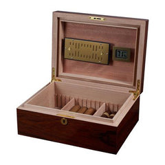 Visol Hagan Polished Oak Wood Locking Humidor