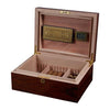 Image of Visol, Visol Hagan Polished Oak Wood Locking Humidor, Humidor - Humidor Enthusiast