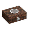 Image of Visol, Visol PortHole Humidor in Burlwood & Ebony Finishes, Humidor - Humidor Enthusiast