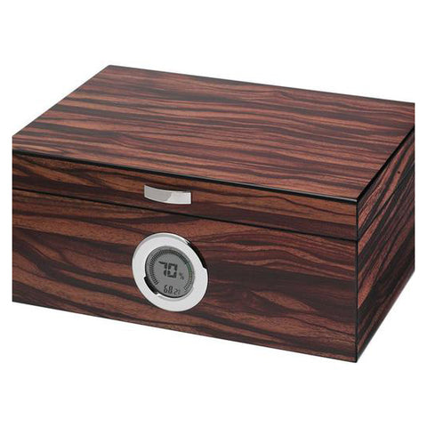 Visol, Visol Brawley Humidor With Macassar Finish, Humidor - Humidor Enthusiast