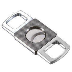 Visol, Visol Cortez Grid Design Double Guillotine Chrome Cutter, Accessory - Humidor Enthusiast