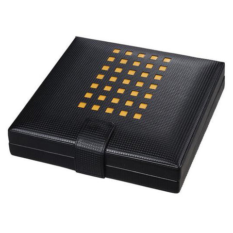 Visol, Visol Mod Black Leather Humidor, Humidor - Humidor Enthusiast