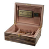 Image of Visol, Visol Warrick Polished Zebrawood Locking Humidor, Humidor - Humidor Enthusiast