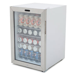 Whynter BR-091WS Beverage Refrigerator With Lock – Stainless Steel