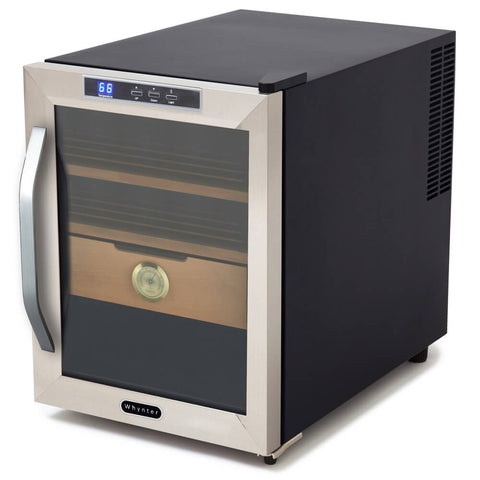 Whynter, Whynter CHC120S Stainless Steel 1.2 cu. ft. Cigar Cooler Humidor, Humidor - Humidor Enthusiast