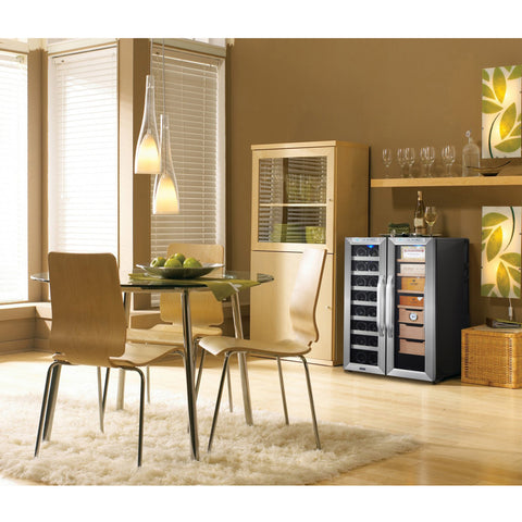 Whynter, Whynter CWC-351DD Freestanding Wine Cooler and Cigar Humidor Center, Humidor - Humidor Enthusiast
