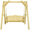 "Image of Homestead  Lawn Swing w/ ""A"" Frame, Clear Exterior Finish"