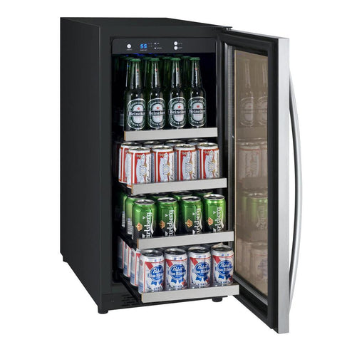 "Allavino Flexcount  Beverage Center 15"" Wide Black Cabinet"