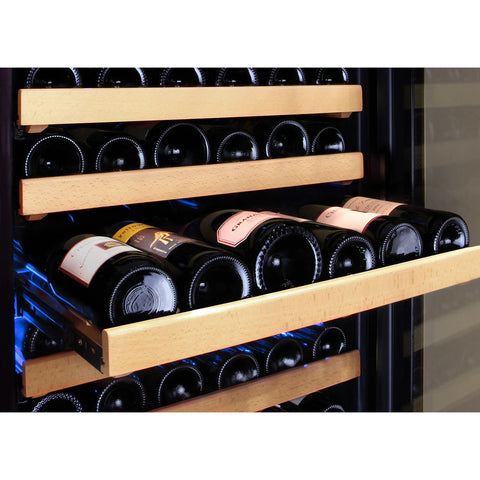 Allavino 172 Bottle Dual-Zone Wine Cooler Stainless Steel Door