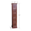 Image of 1-Column Cigar Locker Humidor with 5 Cigar Lockers
