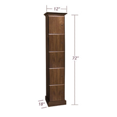 1-Column Cigar Locker Humidor with 5 Cigar Lockers
