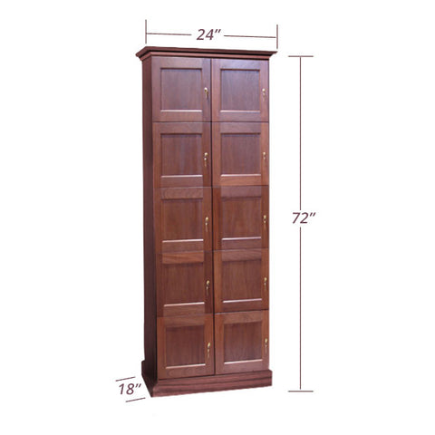 2-Column Cigar Locker Humidor - 10 Cigar Lockers