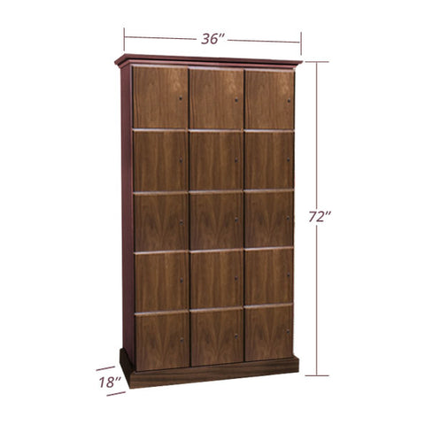 3-Column Cigar Locker Humidor with 15 Lockers
