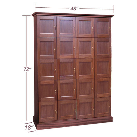 4-Column Cigar Locker Humidor with 20 Lockers