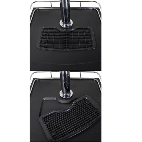 Kegco KOM20S-3NK Triple Faucet Kombucharator with Black Cabinet and Stainless Steel Door