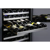 Image of Allavino 349 Bottle Three Zone Stainless Steel Side-by-Side Wine Refrigerator