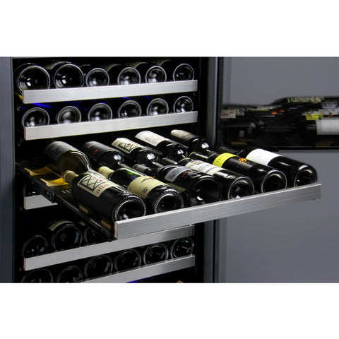 Allavino 121 Bottle Dual Zone Stainless Steel Wine Refrigerator