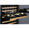 Image of Allavino  349 Bottle Three Zone Black Side-by-Side Wine Refrigerator