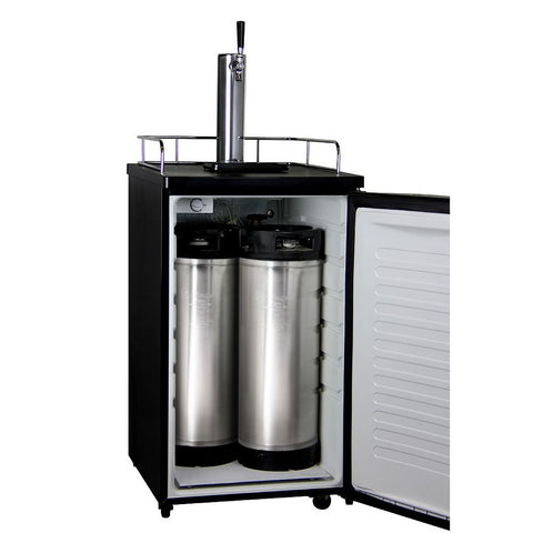 Kegco HBK199S-1 Home Brew Kegerator with Black Cabinet and Stainless Steel Door