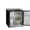 "Image of Kegco HK-38-BS-L 24"" Wide Stainless Steel Commercial Built-In Left Hinge Kegerator - Cabinet Only"