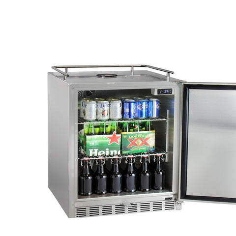 "Kegco HK-38-SS 24"" Wide All Stainless Steel Commercial Built-In Kegerator - Cabinet Only"