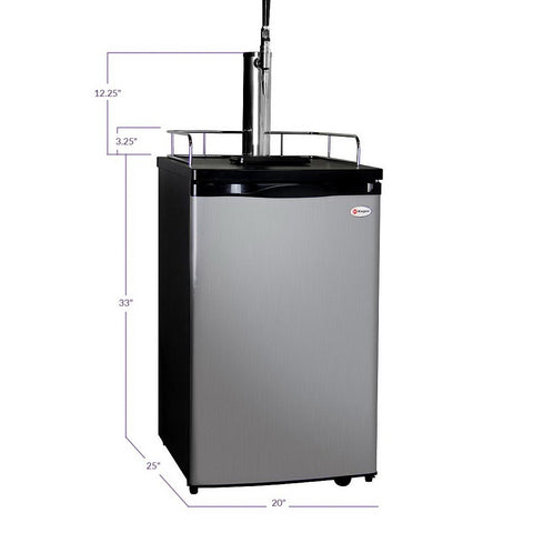 Kegco K199SS-G Guinness® Dispensing Kegerator with Black Cabinet and Stainless Steel Door