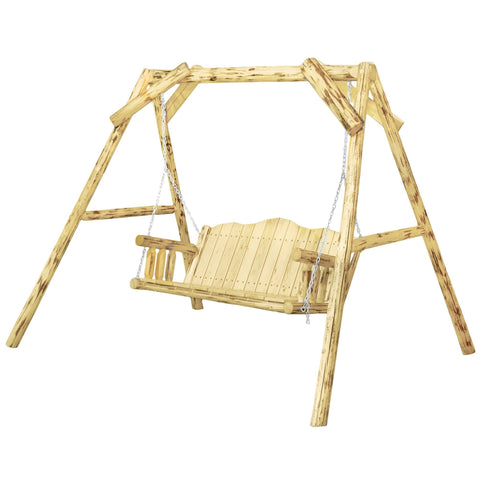 "Montana Lawn Swing w/ ""A"" Frame, Exterior Finish"