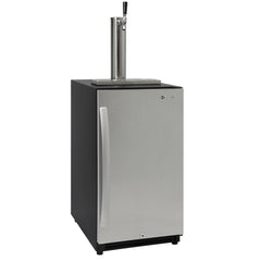 "Kegco VSK-15SR20 15"" Wide Single Tap Stainless Steel Built-In Right Hinge Kegerator"