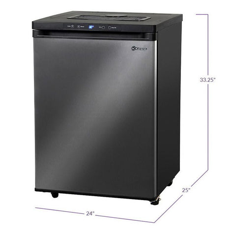 Kegco MDK-309X-01 Full Size Digital Kegerator - Black Cabinet with Black Stainless Steel Door