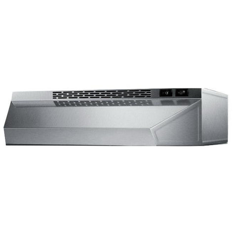 Summit H1636SS Solid Construction Range Hood