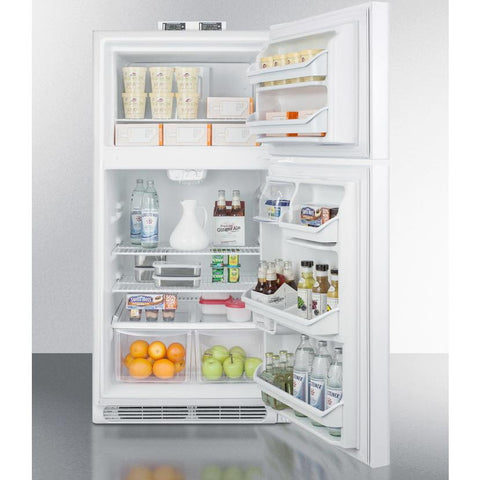 Summit BKRF15W Adjustable Thermostat Full-sized Refrigerator-freezer