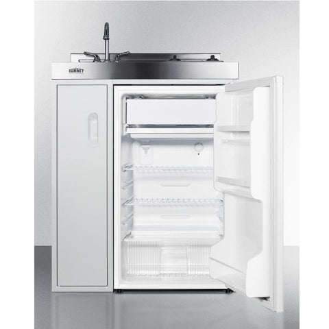 Summit C30ELAUTOGLASS Refrigerator-Freezer Features Automatic Defrost