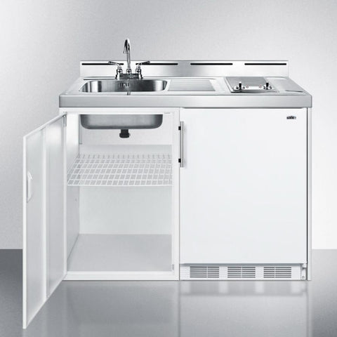 "Summit C48ELGLASS Complete Kitchen Convenience In Just 48"" Of Width"
