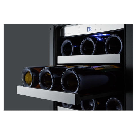 Summit CL151WBVCSS Seamless Stainless Steel Trim Wine Cellar
