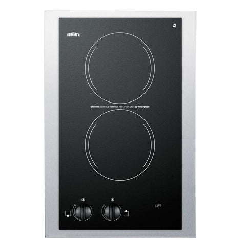 Summit CR2110TK15 Modern Style and Convenience Electric Cooktop