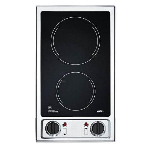 Summit CR2B120 Easy Clean-up Electric Cooktop