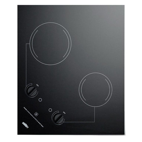 Summit CR2B223G Easy Clean Up Electric Cooktop