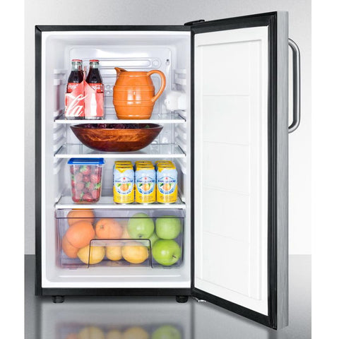 Summit FF521BLBI7SSTBADA Automatic Defrost Built-In Undercounter