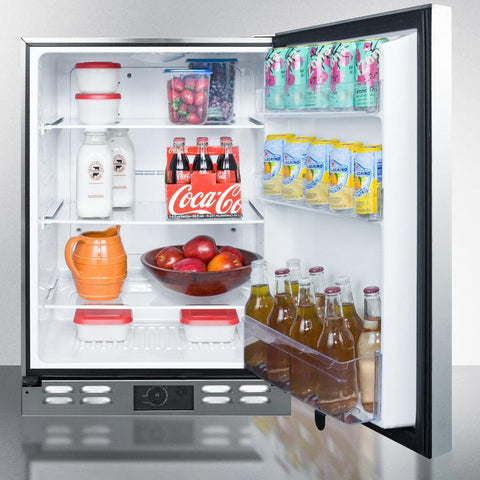Summit FF591OS Flexible Design Refrigerator and Beverage Cooler