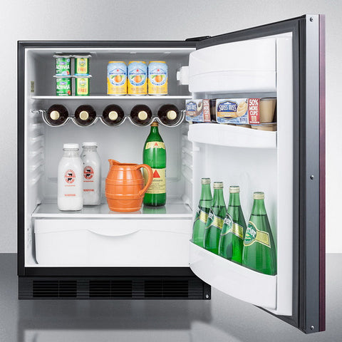 "Summit FF63BKBIIF 24"" Wide Built-In All-Refrigerator"
